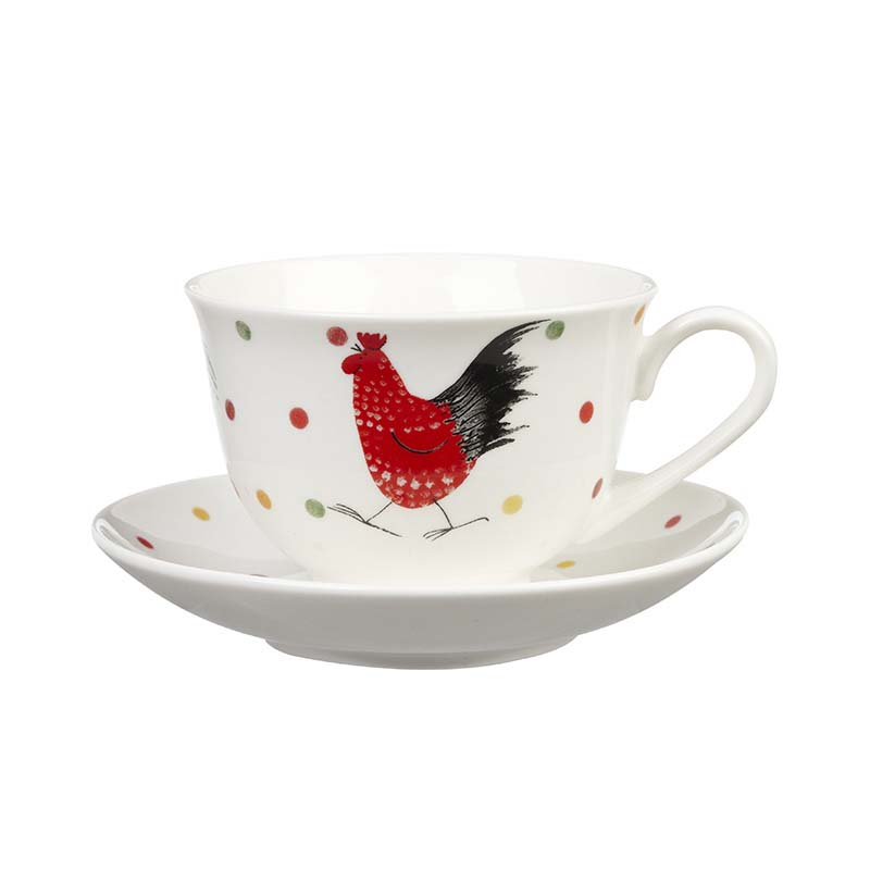 AC Rooster Tea Cup & Saucer