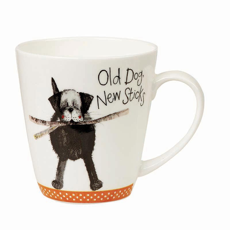 Old Dog New Sticks - Fine Bone China Mug