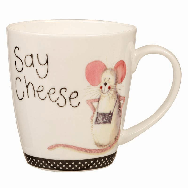Say Cheese Cherry Bone China Mug 360ml