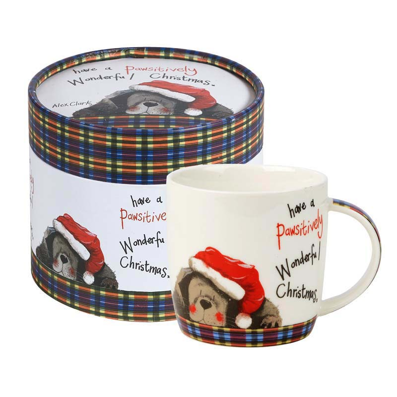AC Pawsitively Christmas Mug in Hatbox