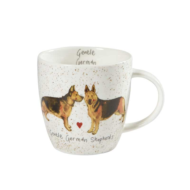Alex Clark Gentle German Shepherds Squash Mug