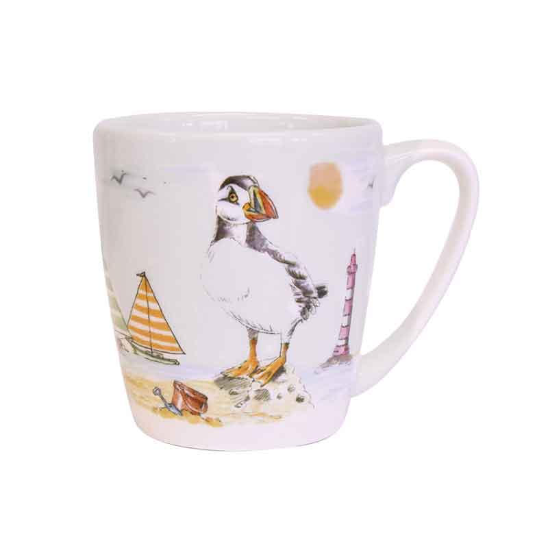 Along The Coast Seabirds Acorn Mug