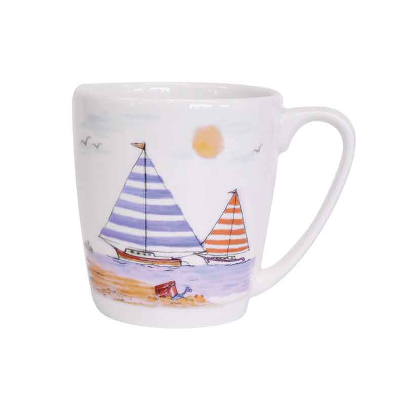 Along The Coast Beachfront Acorn Mug
