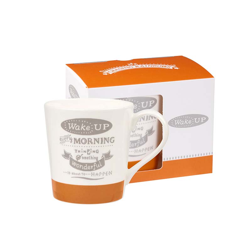 Wake up Bone China Mug
