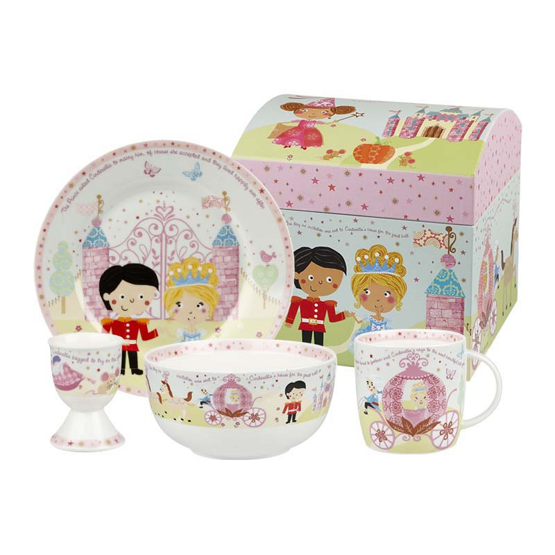 Cinderella 4 Piece Breakfast Set
