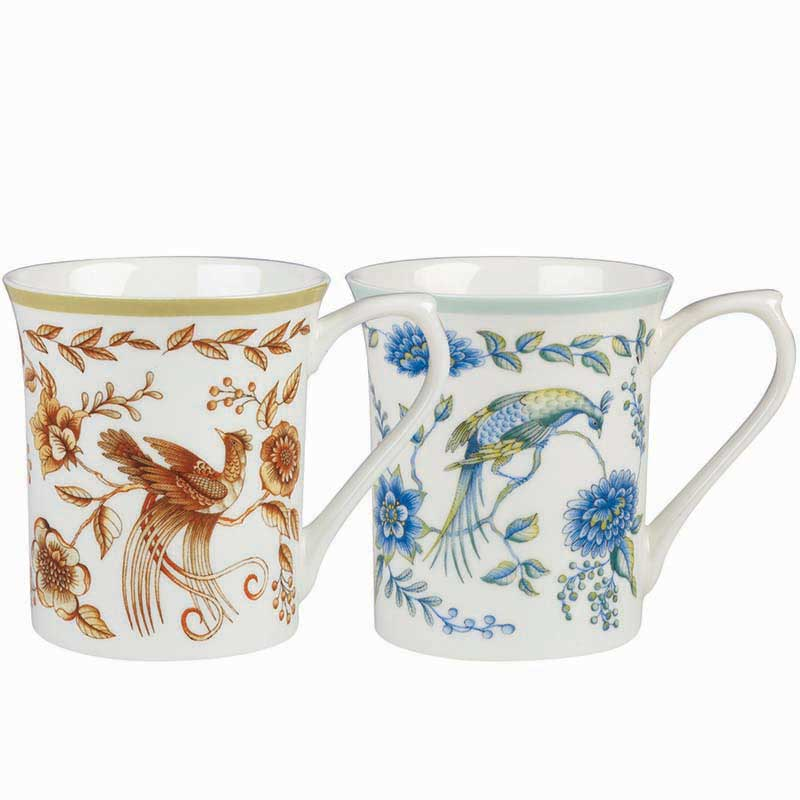 Classic Queens Peacock Assorted Royale Mugs