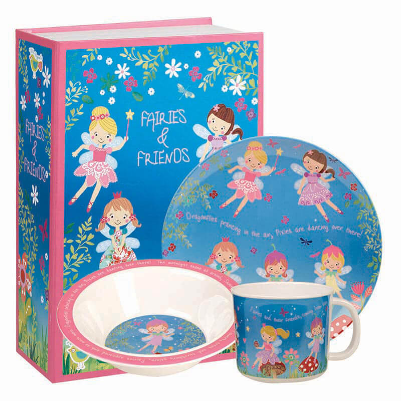 Fairies and Friends 3pc Melamine Set