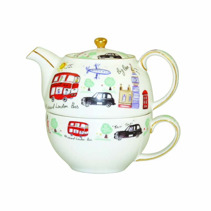 London Travel Teapot & Cup