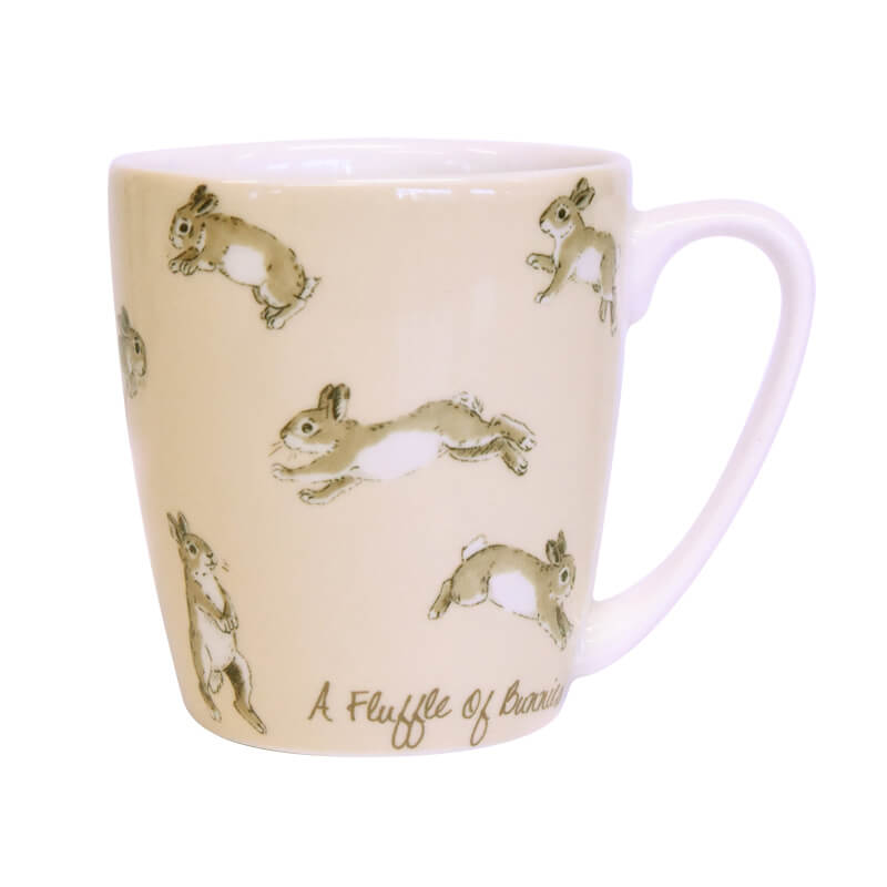 The In Crowd A Fluffle of Bunnies Acorn Mug