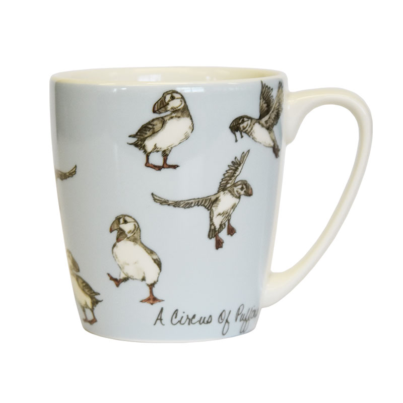 The In Crowd A Circus of Puffins Acorn Mug