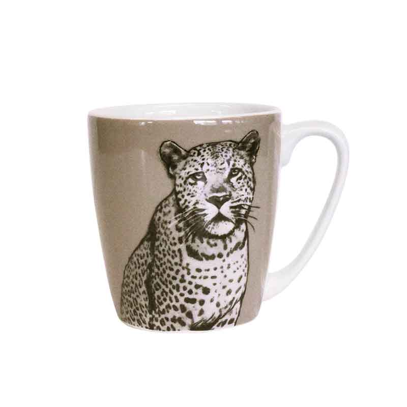 The Kingdom Leopard Acorn Mug