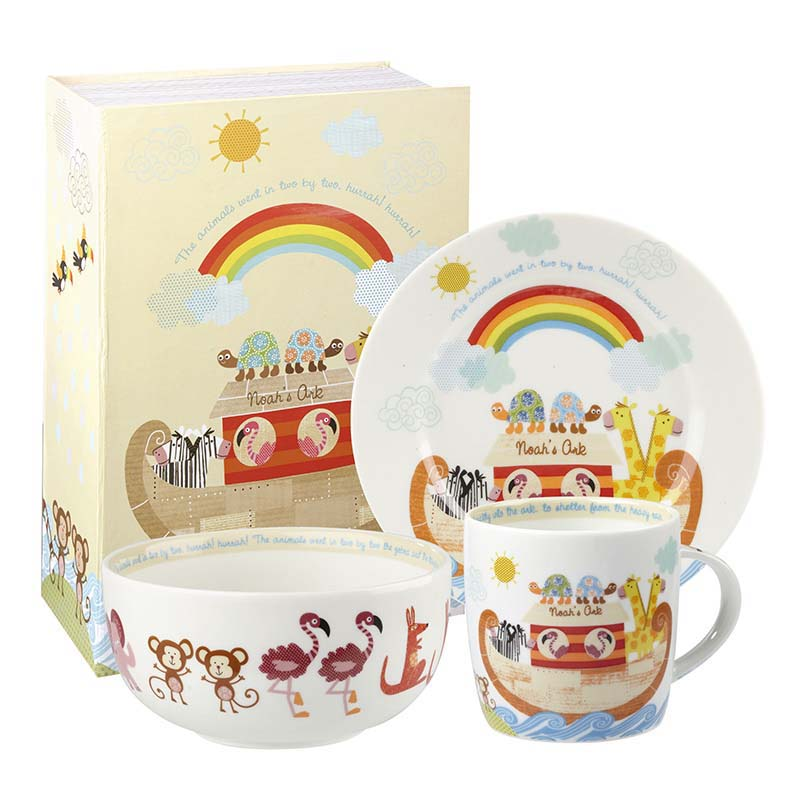 AC Noah's Arc 3 piece breakfast set