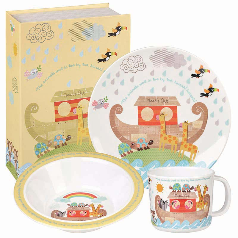 Noah's Ark Melamine Breakfast Set