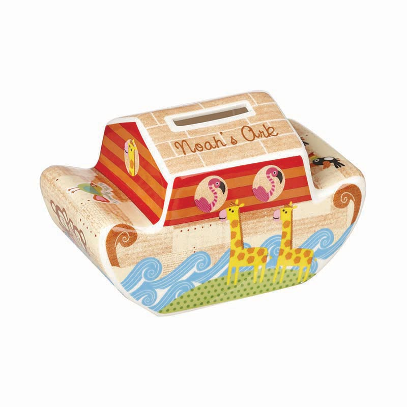 Little Rhymes Noah's Ark Shaped Money Box