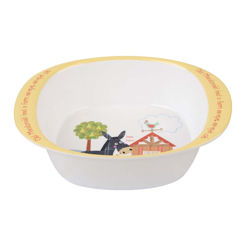 Little Rhymes Old MacDonald's Melamine Bowl