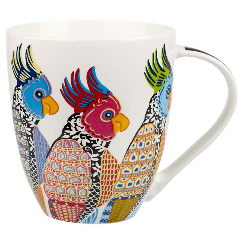 Perching Parakeets Crush mug