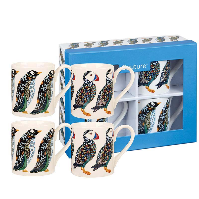 Puffins and Penguins - Mug Giftset