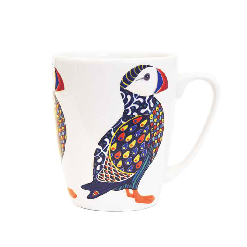Paradise Birds Puffin Oak Mug
