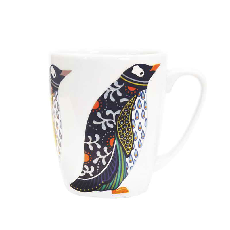 Paradise Birds Penguin Oak Mug