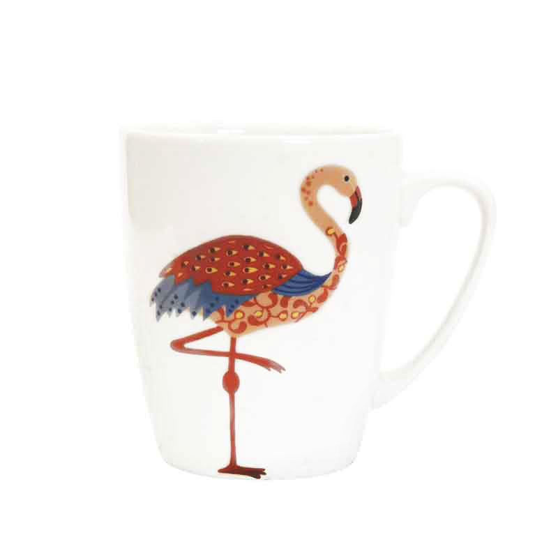 Paradise Birds Flamingo Oak Mug