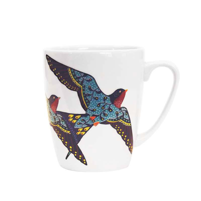 Paradise Birds Swallow Oak Mug