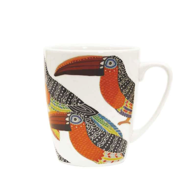Paradise Birds Toucans Oak Mug