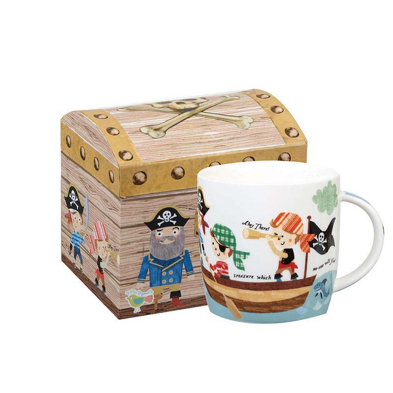 Pirates Mug in Chest  Shaped Box