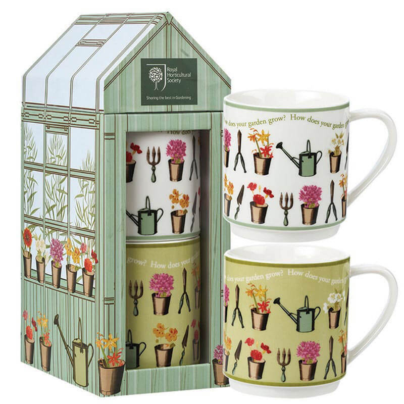 Greenhouse Stacking Mugs in Giftbox