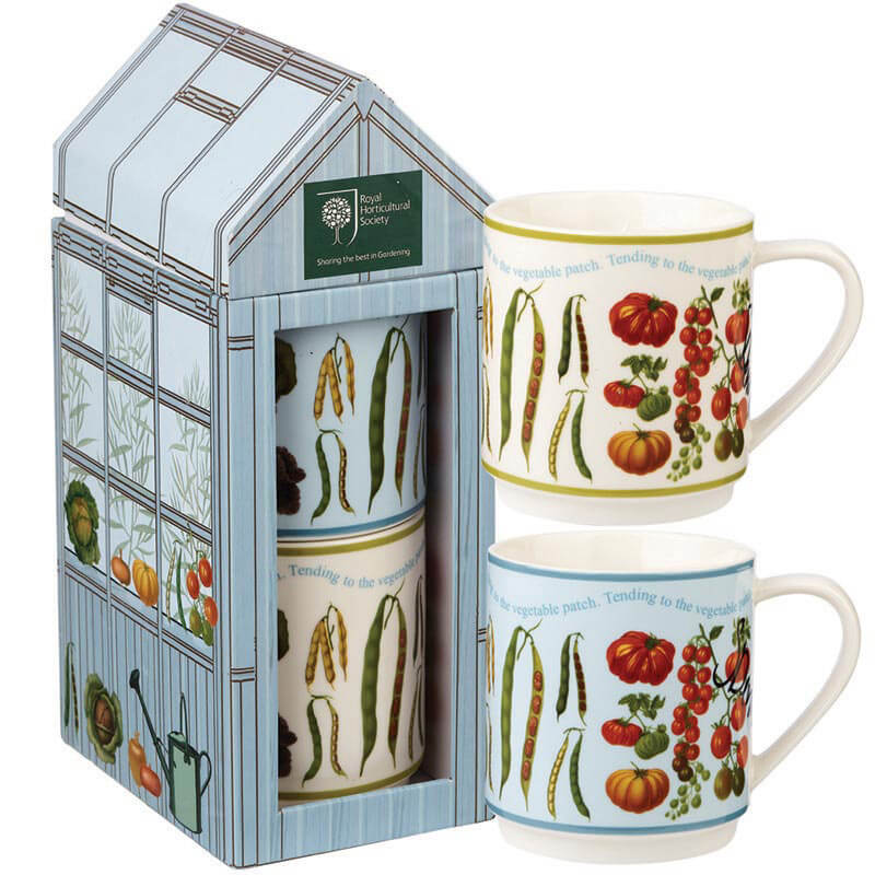 At The Allotment Stacking Mugs