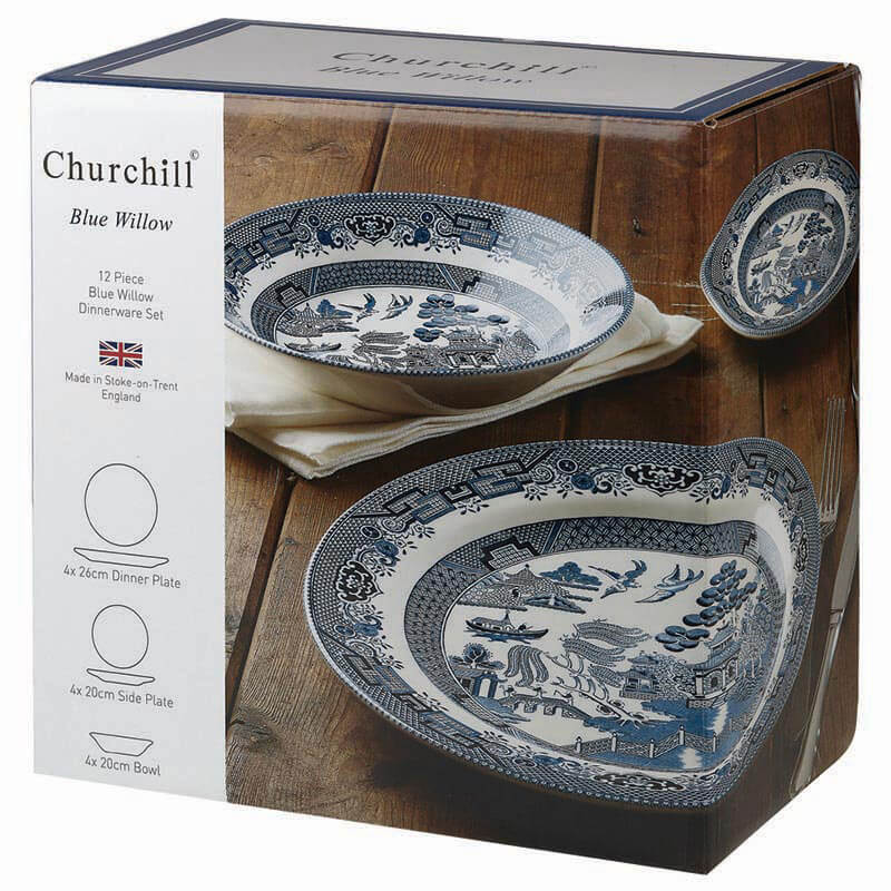 Blue Willow 12pc Dinner set