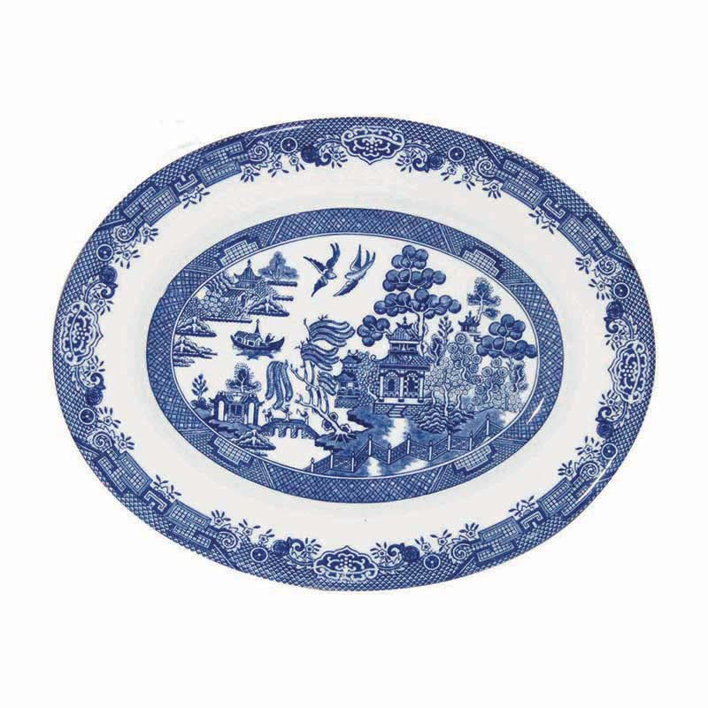 Blue Willow Oval Dish