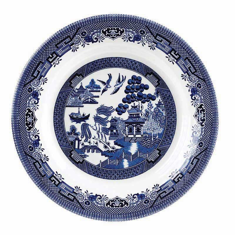 Blue Willow Pasta Plate