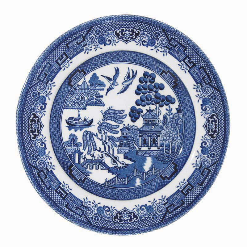 Blue Willow Tea Plate 17cm