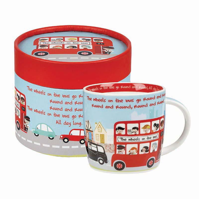 Wheels On The Bus Mug in Hatbox