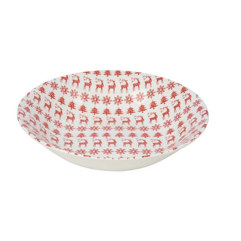Christmas Jumper Scallop Bowl 22cm