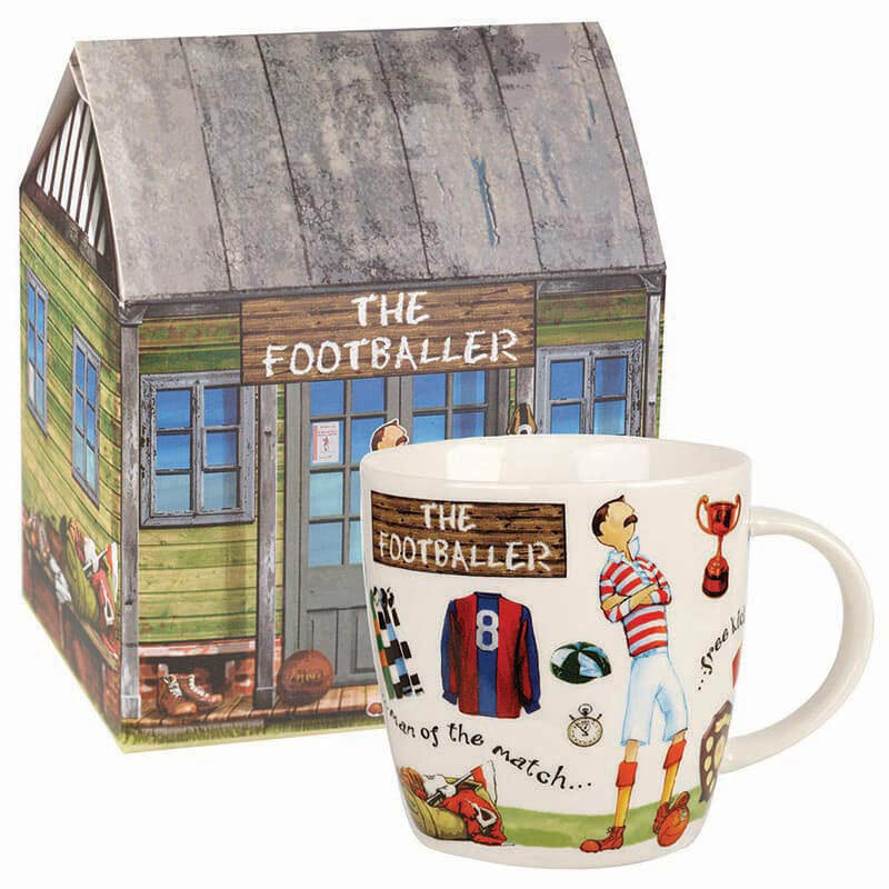 The Footballer Mug in Giftbox