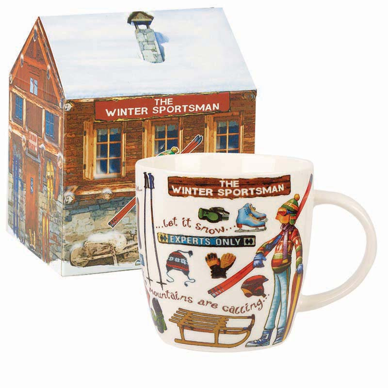 At Your Leisure The Winter Sportsman Mug in Gift Box